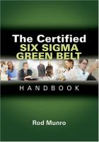 Certified Six Sigma Green Belt Handbook