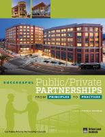 Successful Public/private Partnerships From Principles to Practices
