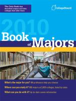 Book of Majors 2010