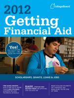 2012 Getting Financial Aid