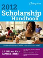 2012 Scholarship Handbook