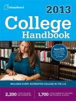 College handbook, 2013.