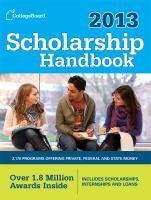 Scholarship handbook, 2013.