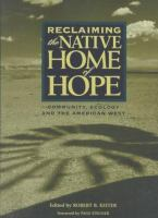 Reclaiming the Native Home of Hope