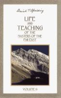 Life and Teaching of the Masters of the Far East