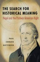 The Search for Historical Meaning