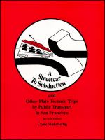 A Streetcar to Subduction and Other Plate Tectonic Trips by Public Transport in San Francisco