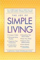 The Joy of Simple Living