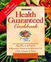 Prevention's Health Guaranteed Cookbook