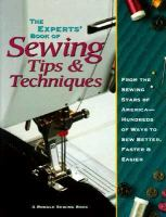 The Experts' Book of Sewing Tips & Techniques