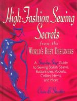 High-fashion Sewing Secrets From the World's Best Designers