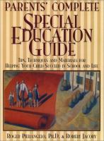 Parents' Complete Special Education Guide