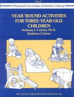 Year 'round Activities for Three-year-old Children