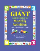 The Giant Encyclopedia of Monthly Activities for Children 3 to 6