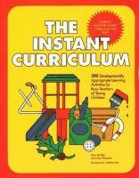 The Instant Curriculum