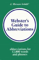 Webster's Guide to Abbreviations