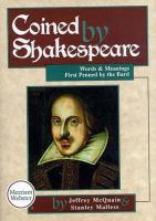 Coined by Shakespeare