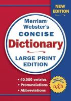 Merriam-Webster's Concise Dictionary