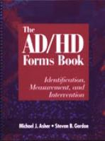 The AD/HD Form Book