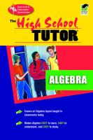 The High School Algebra Tutor