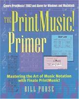 The PrintMusic! Primer
