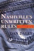 Nashville's Unwritten Rules