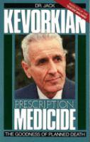 Prescription-- Medicide