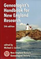 Genealogist's Handbook for New England Research