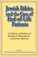 Jewish Ethics and the Care of End-of-life Patients