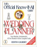 The Official Know-it-all's Wedding Planner