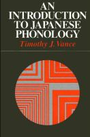 An Introduction to Japanese Phonology