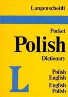 Langenscheidt's Pocket Polish Dictionary