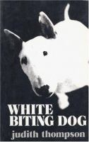 White Biting Dog