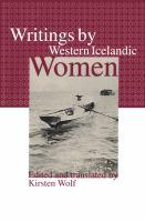 Writings by Western Icelandic Women