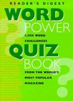 The Reader's Digest Word Power Quiz Book