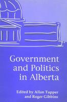 Government and Politics in Alberta
