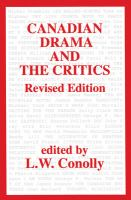 Canadian Drama and the Critics