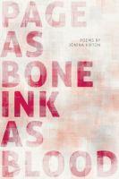 Page as Bone - Ink as Blood