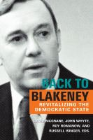 Back to Blakeney : revitalizing the democratic state