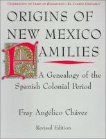 Origins of New Mexico Families