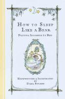 How to Sleep Like A Bear