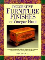 Decorative Furniture Finishes With Vinegar Paint