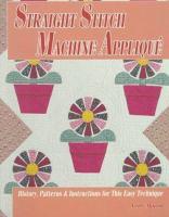 Straight Stitch Machine Appliqué