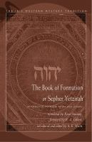 Book of Formation or Sepher Yetzirah