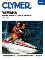 Yamaha Water Vehicles Shop Manual, 1987-1992