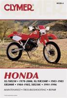 Clymer Honda XL/XR250, 1978-2000; XL/XR350R 1983-1985; XR200R, 1984-1985; XR250L, 1991-1996