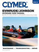 Evinrude/Johnson 2-stroke Outboard Shop Manual, 85-300 HP, 1995-2002 (includes Jet Drive Models)