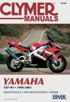 Clymer Yamaha YZF-R1, 1998-2003