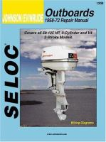 SELOC Johnson/Evinrude Outboards, 1958-72 Repair Manual, 3 and 4 Cylinder, 50-125 Horsepower