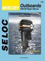 Seloc Mercury Outboards 1965-92 Repair Manual